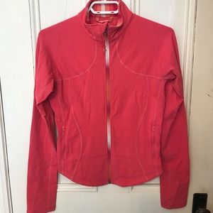 Lululemon Jacket Bright Pink with ombré zip